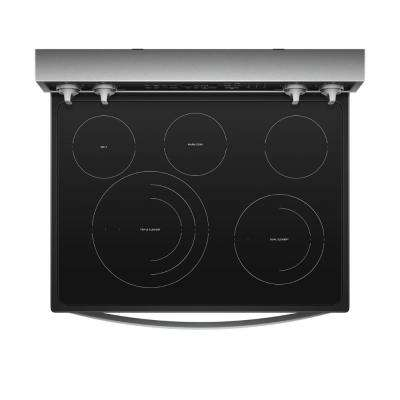 30 in. 6.4 cu. ft. Electric Range with Self-Cleaning in Fingerprint Resistant Stainless Steel