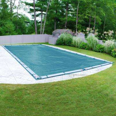 Galaxy Rectangular Teal Blue Winter Pool Cover