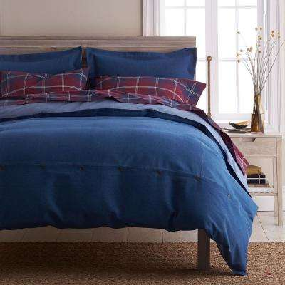 Denim Solid Cotton Duvet Cover