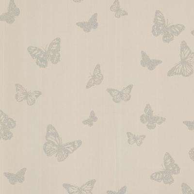 Cafe Pearl Butterfly Wallpaper