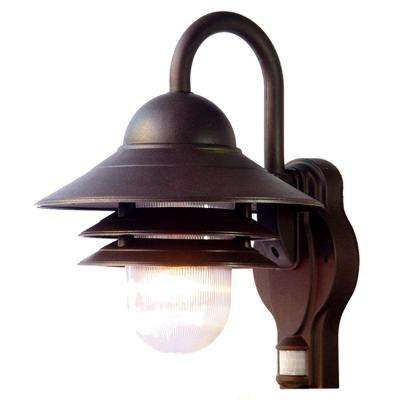 Mariner Collection Wall-Mount 1-Light Outdoor Architectural Bronze Light Fixture