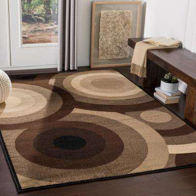 Kalocsa Chocolate 9 ft. x 13 ft. Indoor Area Rug