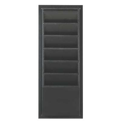 Craft Space 33 in. H x 13 in. W Wood 6-Slot Magazine/File Storage in Silhouette