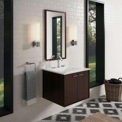 Jute 24 in. Vanity Cabinet in Jersey Oak with Chrome Hardware