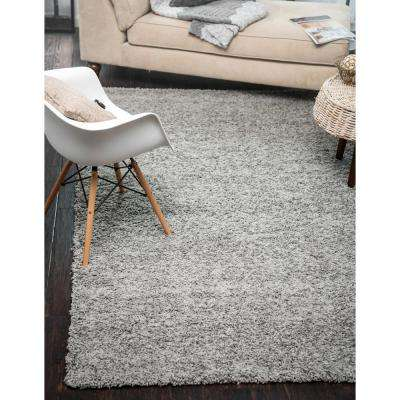 Solid Shag Cloud Gray 8 ft. Square Area Rug