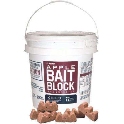 Bait Block Apple Flavor Anticoagulant Rodenticide for Mice and Rats (72-Pack)