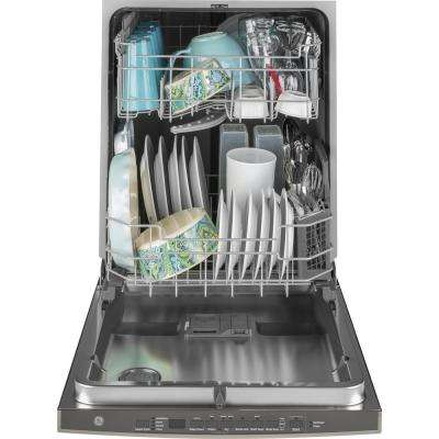 24 in. Top Control Built-In Tall Tub Dishwasher in Black Stainless Steel w/Steam Prewash, Fingerprint Resistant, 50 dBA