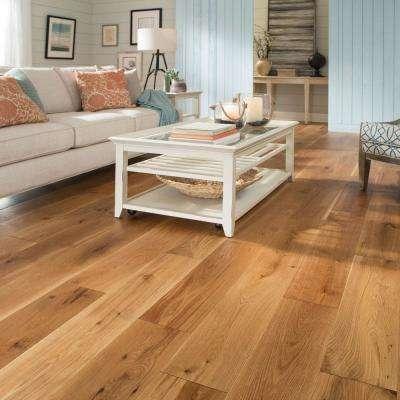 Castlebury Natural Eurosawn White Oak 1/2 in. T x 7 in. W x Random Length Eng Hardwood Flooring (31 sq. ft. / case)