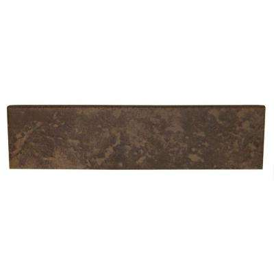 Continental Slate Moroccan Brown 3 in. x 12 in. Porcelain Bullnose Floor and Wall Tile