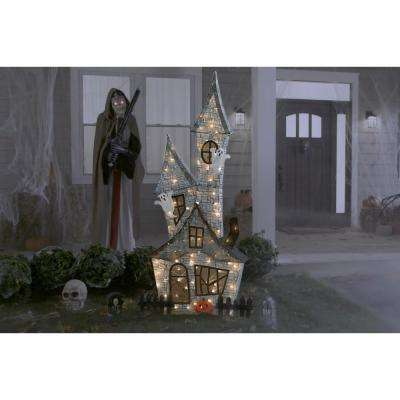 80 in. Halloween Haunted Ghost House
