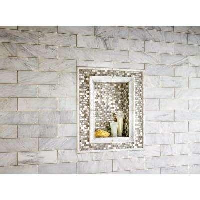 Keshi Blend 12 in. x 12 in. x 8 mm Glass Metal Mesh-Mounted Mosaic Tile (10 sq. ft. / case)