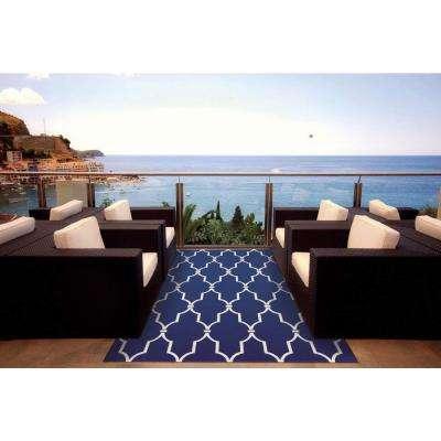 Delos Blue 8 ft. x 11 ft. Indoor/Outdoor Area Rug