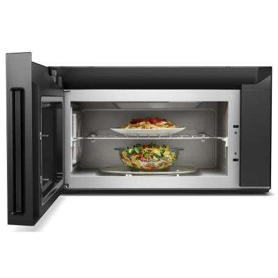 30 in W 1.9 cu. ft. Smart Over the Range Convection Microwave in Black with Scan-to-Cook Technology
