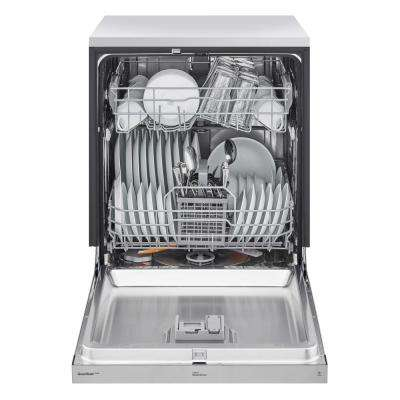 24 in. Stainless Steel Front Control Dishwasher with Quadwash and Dynamic Dry