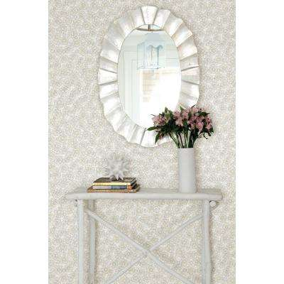Allison Taupe Floral Wallpaper