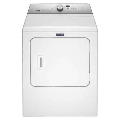 7.0 cu. ft. Gas Dryer with Steam in White