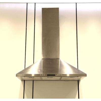 30 in. Convertible Wall Mount Range Hood in Stainless Steel