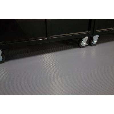 Rib 8.5 ft. x 24 ft. Slate Grey Vinyl Garage Flooring Cover and Protector