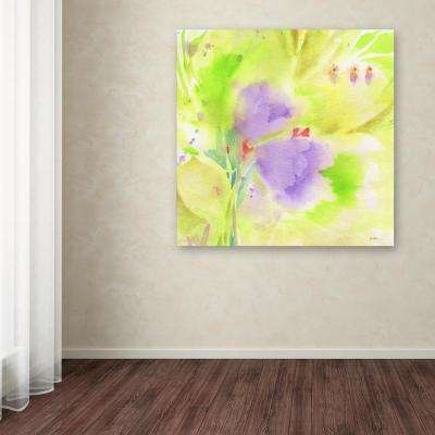 "18 in. x 18 in. ""Violet Duo"" by Sheila Golden Printed Canvas Wall Art"