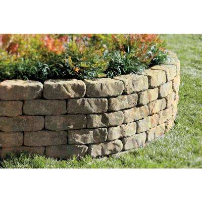 Mini Beltis 3 in. H x 8 in. W x 4 in. D Tan Charcol Concrete Retaining Wall Block (378-Piece/Pallet)