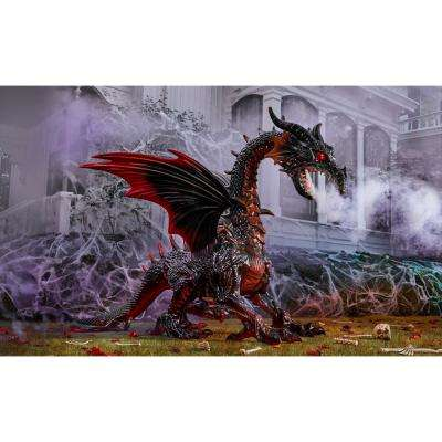 69 in. Realistic Fire Dragon without Fog Machine