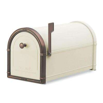 Coronado Sand with Antique Copper Accents Post-Mount Mailbox