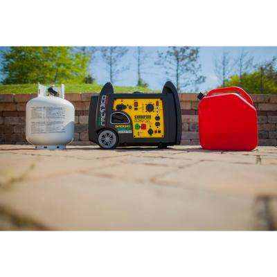3400-Watt Dual Fuel Powered Electric Start Port Inverter Generator with 192 cc Engine