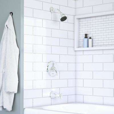 Aragon Single-Handle 1-Spray Tub and Shower Faucet in Chrome (Valve Included)