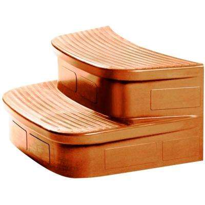 Curved Matching Spa Step for Key Largo Spa