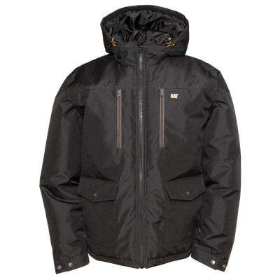Aspen Men's Black Polyester Water Resistant Insulated Jacket