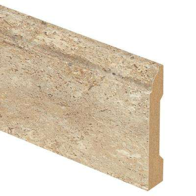 Vanilla Travertine Oak 9/16 in. Thick x 3-1/4 in. Wide x 94 in. Length Laminate Base Molding