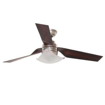 Windspan 52 in. Indoor Brushed Nickel Ceiling Fan with Light
