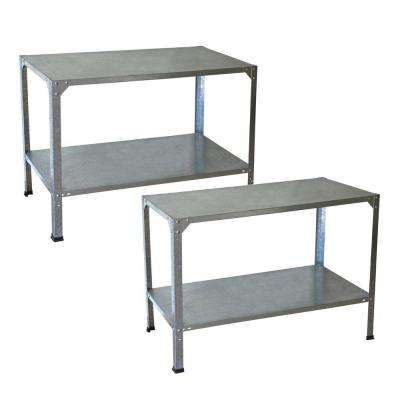 Greenhouse Steel Potting Bench - 2 Bench Bundle
