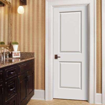 30 in. x 80 in. Cambridge Primed Right-Hand Smooth Molded Composite MDF Single Prehung Interior Door