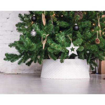 Plastic Christmas Collar Skirt Wrap Tree Stand for Trees Up to 15 ft. Tall