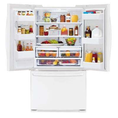 24.1 cu. ft. French Door Refrigerator in White