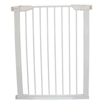 36 in. H x 29.5 in. to 32.5 in. W x 1 in. D White Extra Tall Premium Pressure Gate