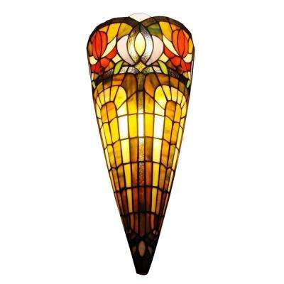 2-Light Tiffany Style Crowned Wall Sconce
