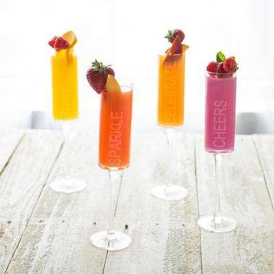 Celebrate 8 oz. Glass Contemporary Champagne Flutes