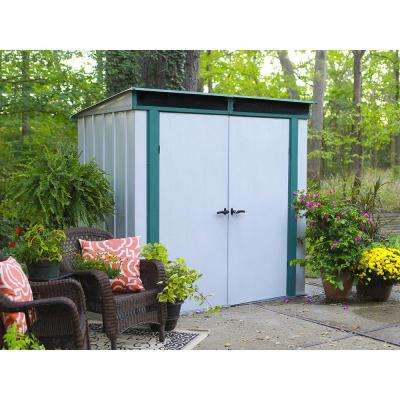 Eurolite Lean Too 6 ft. W x 4 ft. D Galvanized Metal Storage Shed