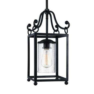 Declaration 1-Light Antique Forged Iron Wall Sconce