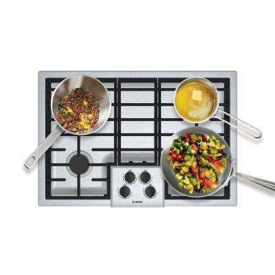 500 Series 30 in. Gas Cooktop in Stainless Steel with 4 Burners including 16,000 BTU Burner