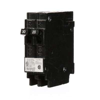 30/20 Amp Single Pole Tandem Type MH-T Plug-In Circuit Breaker