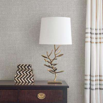 8 in. x 10 in. Bohemian Bling Grey Basketweave Wallpaper Sample