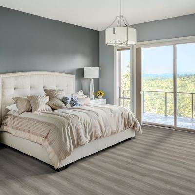Blue Cedar Grey 6 in. Wide x 48 in. Length Click Floating luxury vinyl plank flooring (19.39 sq. ft./case)