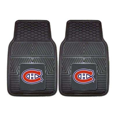Montreal Canadiens 18 in. x 27 in. 2-Piece Heavy Duty Vinyl Car Mat
