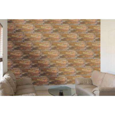 Superior Raised Grain Faux Transitional Panel 1-1/4 in. x 48 in. x 23 in. Steakhouse Polyurethane Interlocking Panel