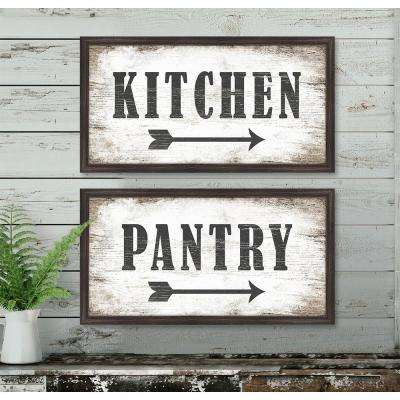 "12 in. x 22 in. ""Kitchen"" Framed Giclee Print Wall Art"