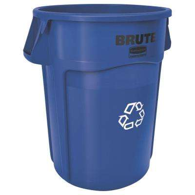 Brute 32 Gal. Blue Vented Recycling Waste Container
