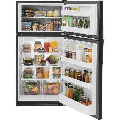 20.8 cu. ft. Top Freezer Refrigerator in Black